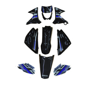 Kit Carenagem Completo Xtz125 Preto 2010 Adesivada