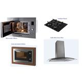 Kit Fogatti Coifa 70cm+forno Embutir+cooktop+microondas Embu