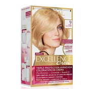 Kit Tintura Excellence Creme Loreal Color 9 Rubio Muy Claro