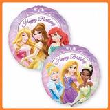 Globos Metalizados De Princesa De Disney 45cm - Doble Estamp