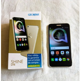 Alcatel Shine Lite, Dorado En Caja Con Accesorios, Liberado