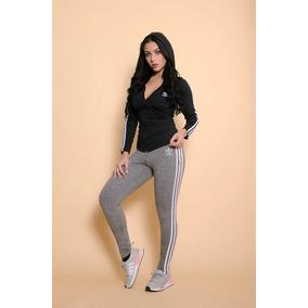 Conjunto adidas Feminina De Frio Blusa E Leggin Moda Top 97afa71d7628d