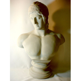 Busto Romano Escultura Italiana Guerreiro Gladiador Lindo