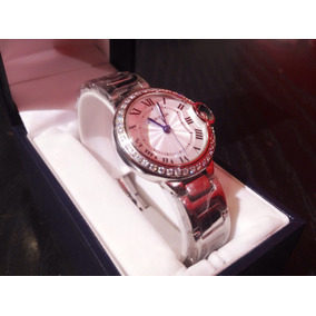 Reloj Cartier Ballon Bleu Corona Diamantada Para Dama