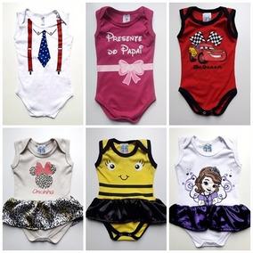 Body Bebê Divertidos Personagens Revenda C/ 10 Pc - P/ M/ G