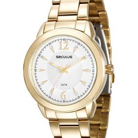 Relógio Seculus Feminino Dourado - 20516lpsvds1