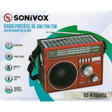 Radio Portatil Con Panel Solar - 3 Bandas Con Bluetooth