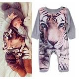 Mameluco Con Imagen De Tigre, Ropa De Bebé 1 Pieza Babynova