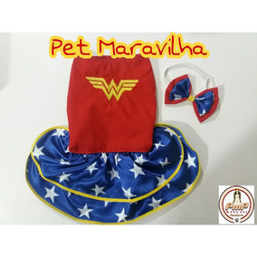 Fantasia Pet Mulher Maravilha