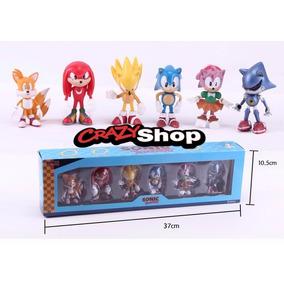 Sonic Coleção Action Figure 6 Bonecos Com Caixa Sega
