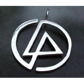 Diametro 33mm Dije De Logo Linkin Park Música Plata Fina 925