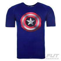 Camiseta Under Armour Capitão America 2.0 - Futfanatics