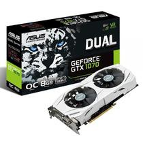Placa De Vídeo Asus Geforce Gtx1070 Oc 8gb Dual-gtx1070-o8g