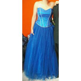 Vestido De 15 Años Azul, Desmontable