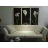 Cuadro Flores Calas Color Elec - 1 X 1.50 M - Mi Decoradora