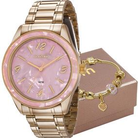 Kit Relógio Mondaine Feminino Com Pulseira 99277lpmkde1k1