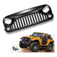 Parrilla Angry Enojada Jeep Wrangler 2007/2017 Jk Frente