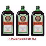 3 Jagermeister 1 Litro 100% Original. Licor Alemao Original.