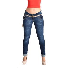 Pantalones Colombianos Jeans Dama Mezclilla Push Up Cocoa
