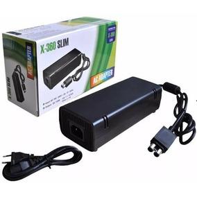 Fonte Xbox 360 Slim Bivolt 110v 220v 135w Cabo De Força 2p