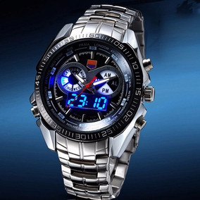 Reloj Moderno Tvg Fechador Analogo Y Digital Metalico
