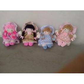 Boneca De Pano Artesanal 20 Cm P/ Lembrancinhas E Decoração