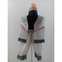 Disfraz Indio Aborigen Fliselina Niños 2-4-6-8 Brovillnet