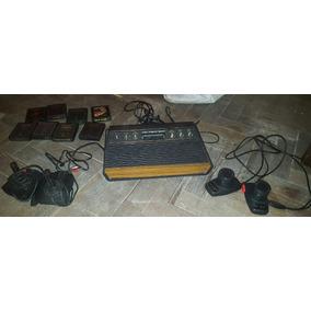 Atari 2600 Con Juegos Y Controles - Funcionando 100%