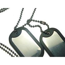 Corrente Militar Placas De Identificacao Exercito Aco Inox