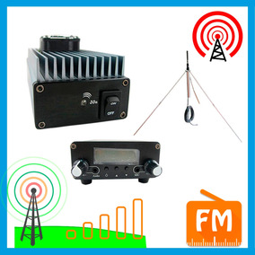 Transmisor Fm 30w + Amplificador + Antena 15 Km