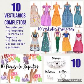 Diez Vestuarios De Princesa Para Barbie - 40 Artículos!