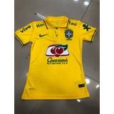 Nova Camisa Polo Seleção Brasileira Amarela Feminina 2018 !!