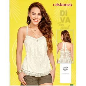 Blusa Cklass Ivory Encaje Primavera Verano 2016 Nueva