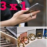 3x1 Ring Anillo Para Celular Soporte Tipo Popsockets