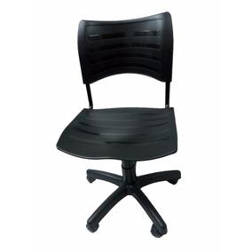 Cadeira Giratória Em Plastico Tipo Iso Secretaria Preto
