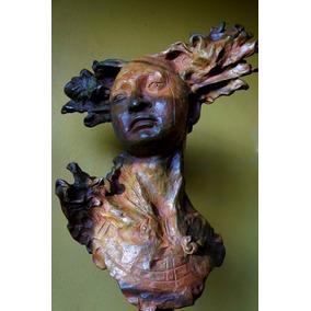 Cabeza De Mujer Bronce Del Maestro Javier Marin