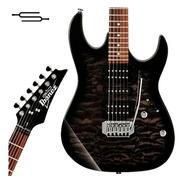 Guitarra Electrica Ibanez Grx 70qa Negra Tks Maple Simisol
