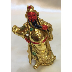 Figura De Dios Kuan Kung Dios De La Guerra Feng Shui Dorado