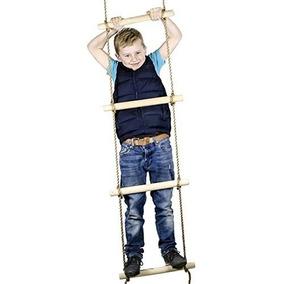 pies subida de escaleras de cuerda para nios swing se