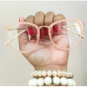 Óculos Feminino Armação Grau Geek Redondo Quadrado Brinde