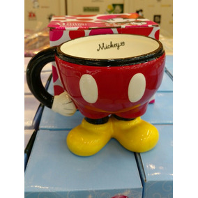Caneca De Porcelana Corpo Do Mickey Mouse Assinada Linda.