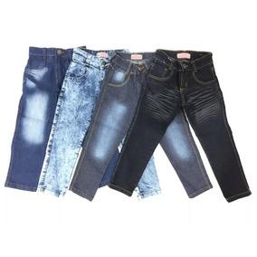 Kit Com 4 Calças Jeans Infantis Para Meninos De 4 A 16 Anos