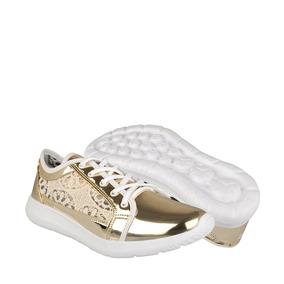 Stylo Zapatos Dama Atleticos 2378 23-26 Charol Oro
