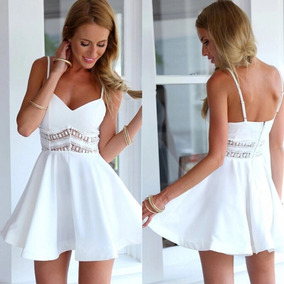 Vestido De Civil Corto Blanco Negro Importado