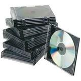 Cajas Estuches P/ Cd Acrilicas Slim Tray Negro X Unidad