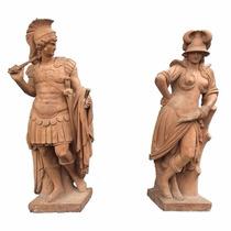 Esculturas Romanas Em Terracota Esculpidas A Mão