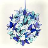 Envio Gratis- Lámpara Techo Con Mariposas Azules Infantil