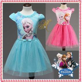 Vestido Frozen Elsa Disfraz Niña Tutu Disney Los Mejores