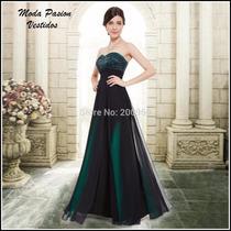 Vestido Straples Corazon Falda Amplia Degrade Moda Pasión