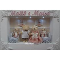 Porta Maternidade Gêmeos Com 03 Leds !!!